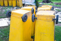 Large trash cans Royalty Free Stock Photography