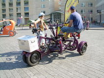 Large Tricycle type vehicle Royalty Free Stock Images