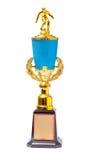Large trophy on white background Stock Photos