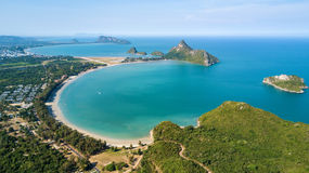 Large tropical beach bay in Thailand Royalty Free Stock Photo
