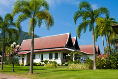 Large tropical beach house in Thailand Royalty Free Stock Images