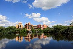 Large tropical house in florida Stock Photo
