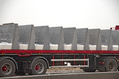 Large truck with concrete blocks royalty free stock photography
