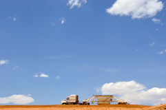 Large truck moving dirt Royalty Free Stock Photography