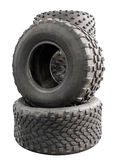 Large truck rubber tires Royalty Free Stock Photos