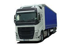 Large truck with semi trailer Stock Photography