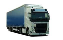 Large truck with semi trailer Royalty Free Stock Photos