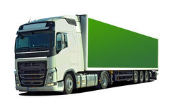 Large truck with semi trailer Royalty Free Stock Photo