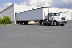 Large truck at unloading dock Stock Image