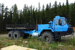 A large truck used for heavy bushwork Stock Image