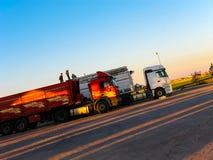 Large trucks on the road, Turkey Stock Photography