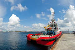 Large tugboat in port Stock Photography