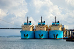 Large tugs in port Stock Images