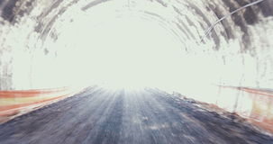 Large Tunnel construction site stock footage