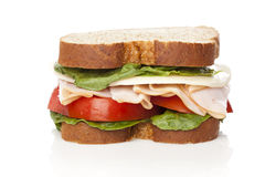 A large turkey sandwhich Royalty Free Stock Image