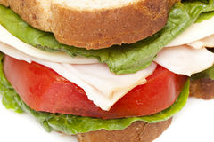 A large turkey sandwhich Stock Images