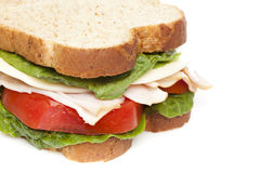 A large turkey sandwhich Royalty Free Stock Photos