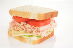 Large turkey sandwich Stock Image