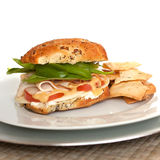 Deli Style Turkey Sandwich Royalty Free Stock Photos