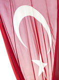 Large turkish flag isolated Royalty Free Stock Images