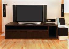 Large TV. Large screen TV inside modern room interior Stock Photo