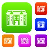 Large two-storey house set collection Stock Image