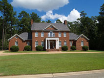 Large Two Story Brick Residential Home Royalty Free Stock Photos