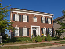 Large Two Story New Home Built in a Historical Sty stock photos