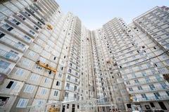 Large under construction housing apartment building Stock Photo