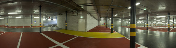 Large underground parking Stock Photography