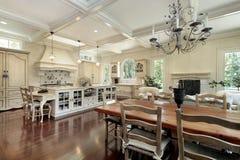 Large upscale kitchen Stock Photos