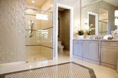 Large Upscale Master Bathroom Royalty Free Stock Images
