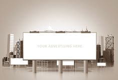 Large Urban Billboard Royalty Free Stock Photography