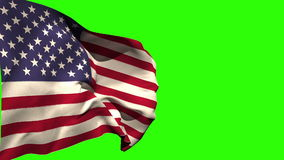 Large usa national flag blowing stock video footage