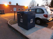 Large USPS mail box with logo in Edison, NJ USA. Royalty Free Stock Image