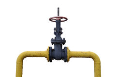 Large valve for shutting off the gas pipe.  royalty free stock photography