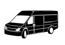 Large Van. An illustration of a large van Stock Photography