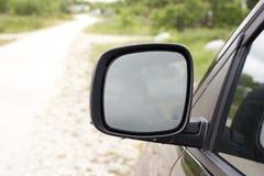Large van side mirror Stock Photo