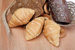 Large variety of bread, still life isolate. Large variety of bread, still life isolate on white background Stock Image