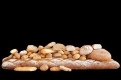 Large variety of different breads Stock Image