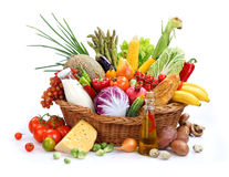 Large variety of food Stock Photo