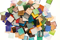 Large variety of small glass tiles Royalty Free Stock Image