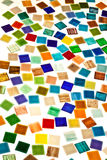Large variety of small glass tiles Stock Image