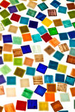 Large variety of small glass tiles Stock Photos