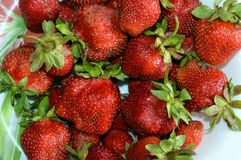 Strawberry, fruit, food, red, strawberries, berry, ripe, fresh, sweet, healthy, juicy, dessert, delicious, green, tasty, organic, royalty free stock image