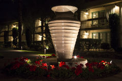 Large Vase at Night Stock Photography