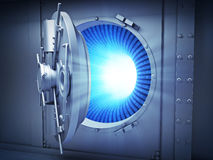 Large vault with binary data stock photo