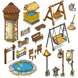 Large vector set constructor items for locations Stock Image