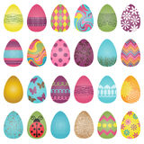 Large Vector Set Of Easter Eggs Stock Photos