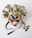Large Venetian Mask. Mask with bells and ribbons Royalty Free Stock Photography
